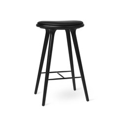 High Stool - Black Stained Oak - 74 cm | Tabourets de bar | Mater