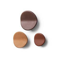 Imago Wall Hanger - Leather - Set of 3 | Ganci singoli | Mater