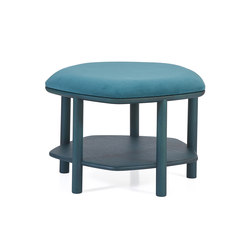 Ottoman coffee table Abel Small 55cm, petrol blue | Poufs | Hartô