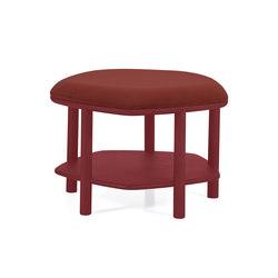Pouf table basse Abel Small 55cm, bordeaux | Poufs | Hartô