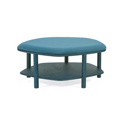 Pouf table basse Abel Large 84cm, bleu petrole | Poufs | Hartô