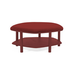 Pouf table basse Abel Large 84cm, bordeaux | Poufs | Hartô