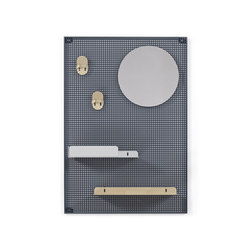 Wall system Alfred, dark grey champagne and light grey | Shelving | Hartô