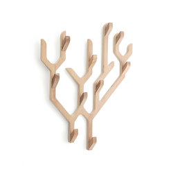 Wall coat rack Ambroise, natural oak | Garderoben | Hartô