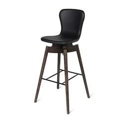 Shell Bar Stool - Ultra Black - Sirka Grey Oak | Chairs | Mater