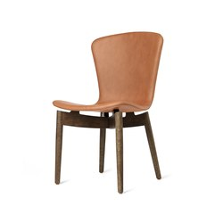 Shell Dining Chair - Ultra Brandy - Sirka Grey Oak | Chairs | Mater