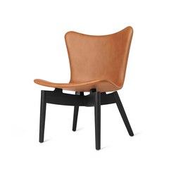 Shell Lounge Chair - Ultra Brandy - Black Oak | Armchairs | Mater