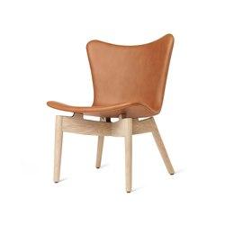 Shell Lounge Chair - Ultra Brandy - Mat Lacquered Oak   Armchairs   Mater