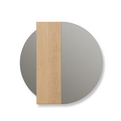 Asymetrical mirror Charlotte, oak | Mirrors | Hartô