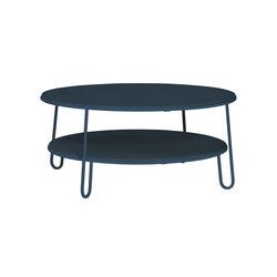 Coffee table Eugenie 90cm, full grey blue | Tavolini bassi | Hartô