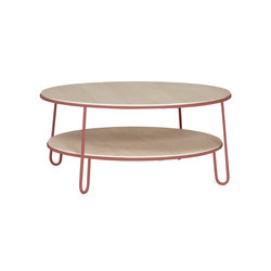Table basse Eugenie 90cm, rose pomelo | Tables basses | Hartô