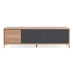 Gabin sideboard 162cm with drawers, slate grey | Sideboards | Hartô