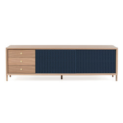 Gabin sideboard 162cm with drawers, grey blue | Sideboards | Hartô
