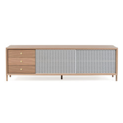 Gabin sideboard 162cm with drawers, light grey | Sideboards | Hartô