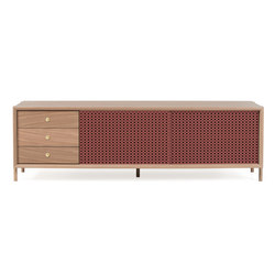 Gabin sideboard 162cm with drawers, pomelo pink | Sideboards | Hartô