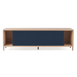 Gabin sideboard 162cm without drawers, grey blue | Sideboards | Hartô