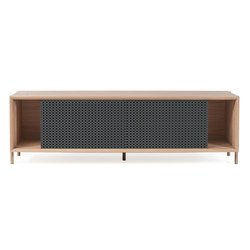 Gabin sideboard 162cm without drawers, slate grey | Sideboards | Hartô