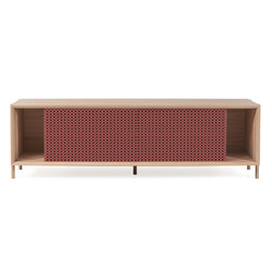 Gabin sideboard 162cm without drawers, pomelo pink | Sideboards | Hartô