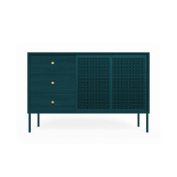 High sideboard Gabin, petrol blue fully painted | Sideboards | Hartô