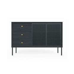 High sideboard Gabin, slate grey fully painted | Sideboards | Hartô