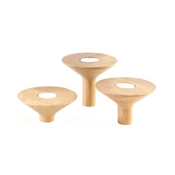 Candle holder Gaspard, chene naturel | Candlesticks / Candleholder | Hartô