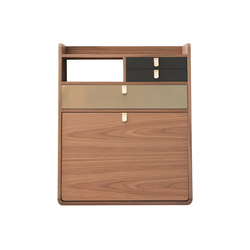 Wall secretary desk Gaston walnut 60cm | Escritorios | Hartô