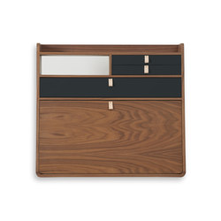 Wall secretary desk Gaston walnut 80cm | Desks | Hartô