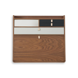 Wall secretary desk Gaston walnut 80cm | Scrivanie | Hartô