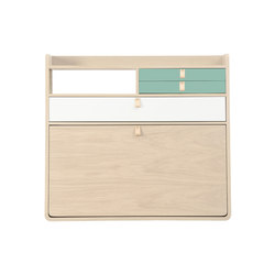 Wall secretary desk Gaston oak 80cm | Scrivanie | Hartô
