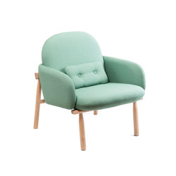 Armchair Georges, water green | Armchairs | Hartô