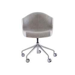 Alster | Alster Carver Chair Aluminium Base On Castors | Chairs | Ligne Roset