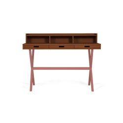 Secretary desk Hyppolite in walnut, pomelo pink | Schreibtische | Hartô