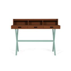 Secretary desk Hyppolite in walnut, celadon green | Schreibtische | Hartô