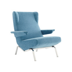 Archi | Armchair Brilliant Chromed Base | Armchairs | Ligne Roset