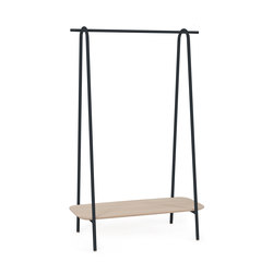 Clothes rack Lucien in oak, slate grey | Guardaroba | Hartô