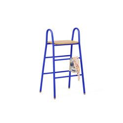 Stool Lucien round handles, realistic blue   Stools   Hartô