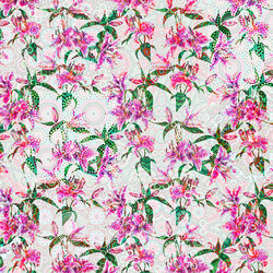 Walls By Patel | Wallpaper Mosaic Lilies 2 | Wall coverings / wallpapers | Architects Paper