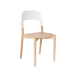 Chair Paula, natural oak and white backrest | Stühle | Hartô
