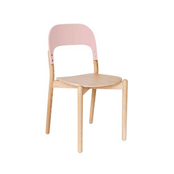 Chair Paula, natural oak and pink backrest | Stühle | Hartô