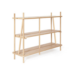 Bookcase Simone 120cm, natural oak | Shelving | Hartô