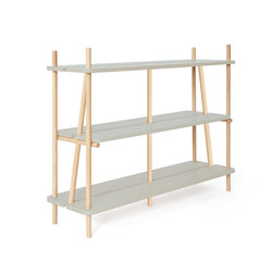 Bookcase Simone 120cm, gradient faded aqua green | Shelving | Hartô