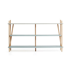 Bookcase Simone 160cm, gradient faded aqua green | Shelving | Hartô
