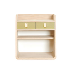 Wall mounted storage Suzon, brushed brass | Scaffali | Hartô