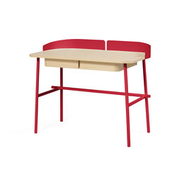 Desk Victor, cherry red | Desks | Hartô