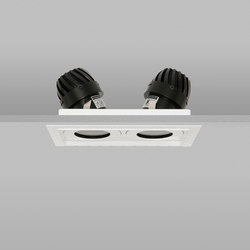 AquaSquare Double Trim 50 RAL Match Medium 2700K | Plafonniers encastrés | John Cullen Lighting