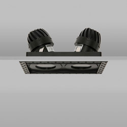 AquaSquare Double Trimless 50 Black Medium 2700K | Recessed ceiling lights | John Cullen Lighting