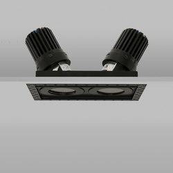 AquaSquare Double Trimless 50+ Black Medium 2700K | Recessed ceiling lights | John Cullen Lighting