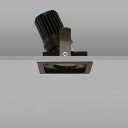 AquaSquare Trim 50+ Black Medium 2700K | Recessed ceiling lights | John Cullen Lighting