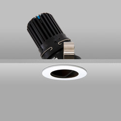 Flush 50+ White Narrow 2700K Flush Plaster-in | Recessed ceiling lights | John Cullen Lighting