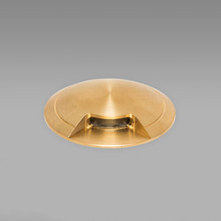 Guida Naval Brass 2700K Single Facet | Outdoor recessed floor lights | John Cullen Lighting